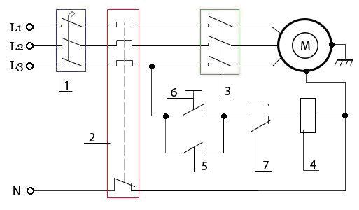 Схема подкючения трёхфазного