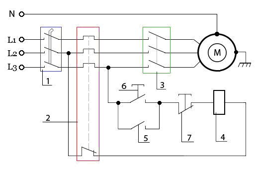 электродвигателя Схема